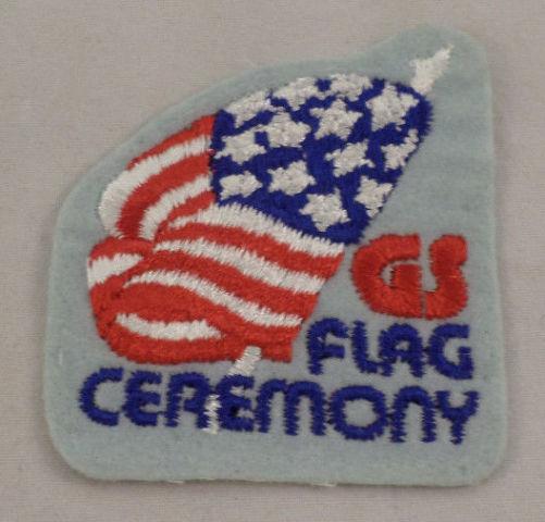 Girl Scout Patch Gs Flag Ceremony Uniform Patch Gs #Gsbl