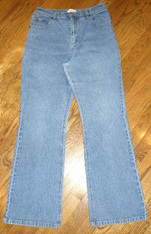 Womens Coldwater Creek  Sz 12  Medium Wash Denim Blue Jeans