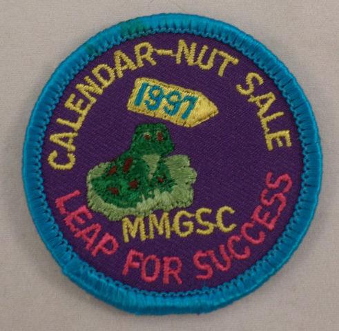 Girl Scout Patchcalendar Nut Sale Leap For Sccess 1991 Uniform Patch Gs #Gsbl