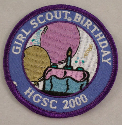 Girl Scout Patch Girl Scout Birthday Hgsc 2000 Uniform Patch Gs #Gspp