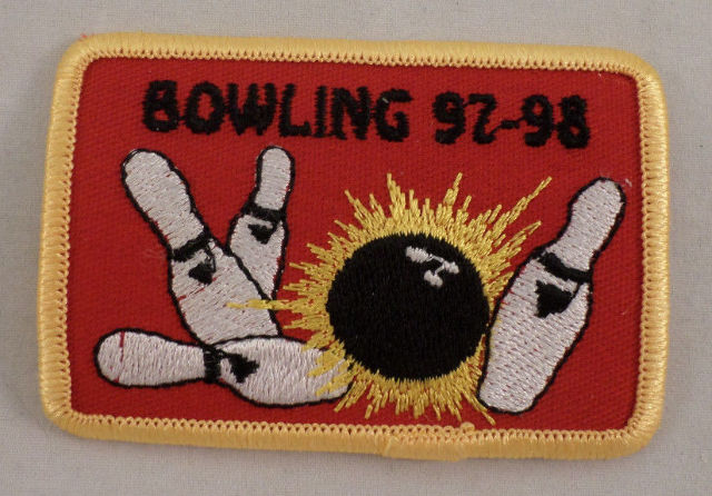 Girl Scout Patch Bowling 1997-98 Gs #Gsyl