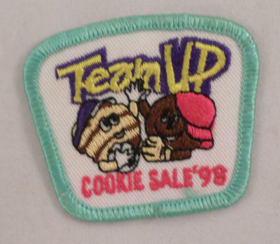 Girl Scout Patch Team Up Cookie Sale 1998 #Gsgr