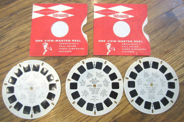 View Master Vintage Sawyer'S Inc View-Master Reel Mother Goose Rhymes 3 Disk '50