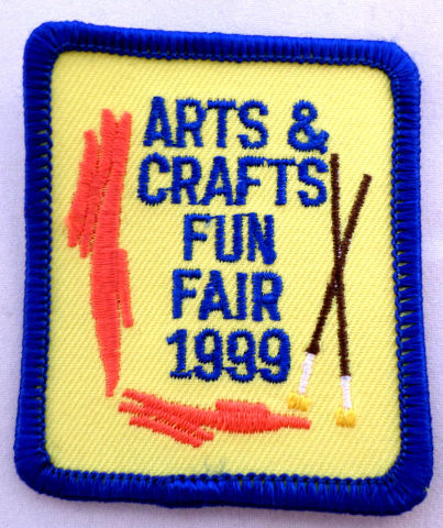 Girl Scout Gs Uniform Patch Arts Crafts And Fun Fair 1999  #Gsbl