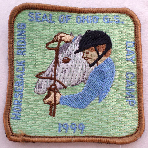 Girl Scout Gs Uniform Patch Horseback Riding Seal Of Ohio Day Camp 1999 #Gsbr