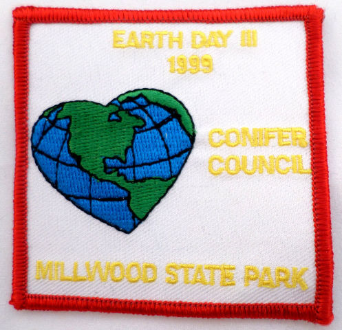 Girl Scout Gs Uniform Patch Earth Day Iii Millwood State Park   #Gsrd