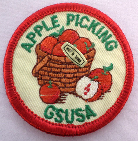 Girl Scout Patch Apple Picking Basket Gs Usa Gsusa