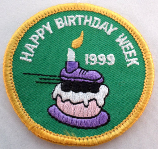 Girl Scout Patch Happy Birthday Week 1999