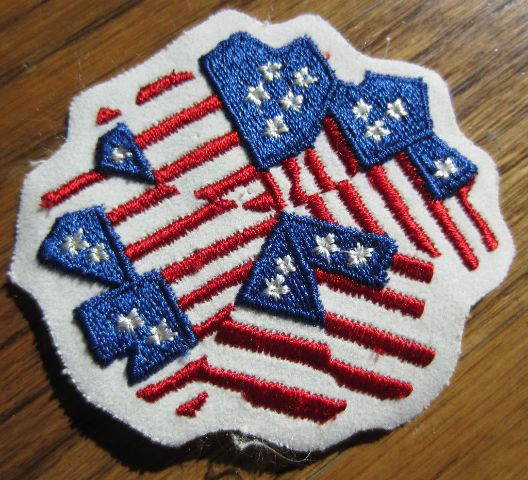 Flag Uniform Patch Collage Stars And Stripes