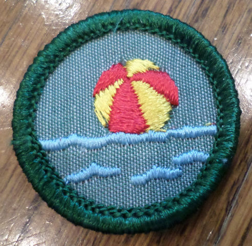 Jr. Girl Scout Green Junior Merit Badge Water Fun Beach Ball