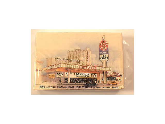 Deck Of Playing Cards Las Vegas Casino Scene Sealed In Original Plastic With Box