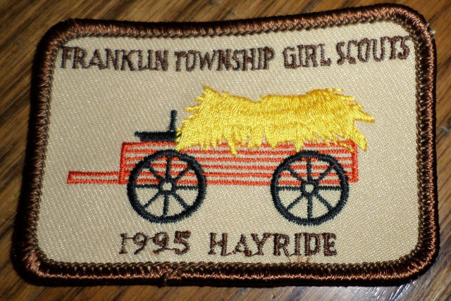 Girl Scouts Gs Vintage Uniform Patch Franklin Township Girl Scouts 1995 Hayride