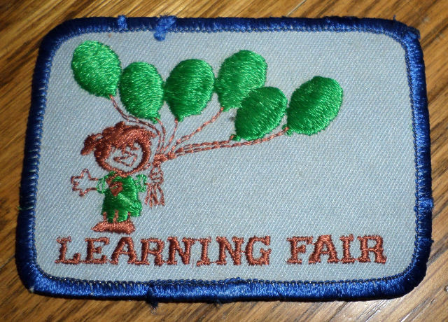 Girl Scouts Gs Vintage Uniform Patch Learning Fair Balloons Celebration