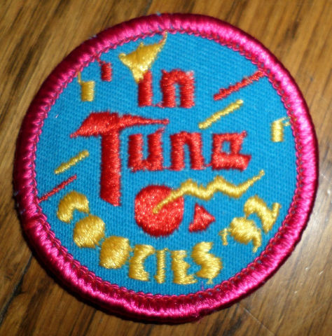 Girl Scouts Gs Vintage Uniform Patch In Tune Cookies 1992