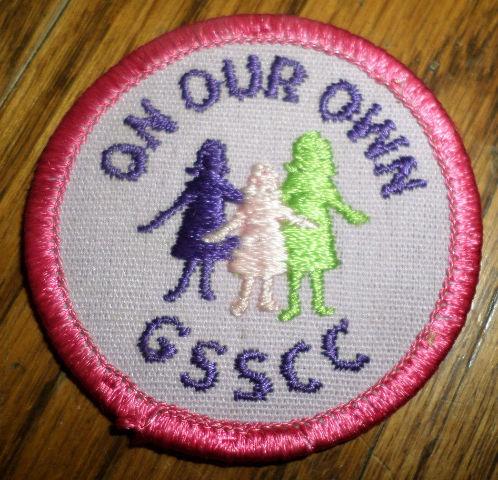 Girl Scouts Gs Vintage Uniform Patch On Our Own Gsscc