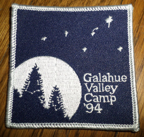 Girl Scout Gs Vintage Uniform Patch  Galahue Valley Camp 1994