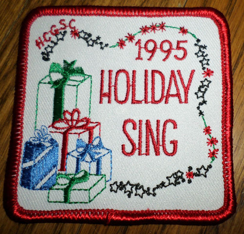 Girl Scout Gs Vintage Uniform Patch  1995 Holiday Sing Gifts Presents Packages