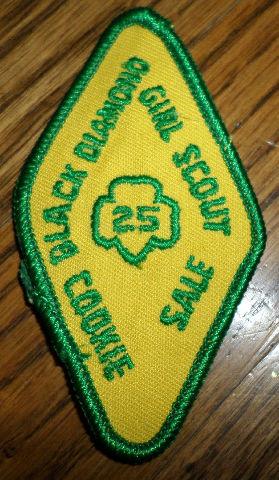 Girl Scouts Gs Vintage Uniform Patch Black Diamond Cookie Sale 25