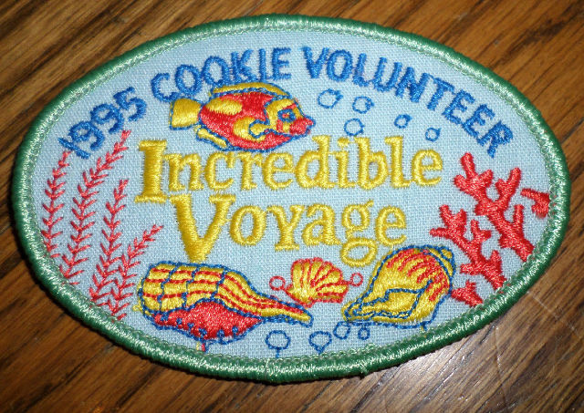 Girl Scouts Gs Vintage Uniform Patch Incredible Voyage Cookie Volunteer 1995