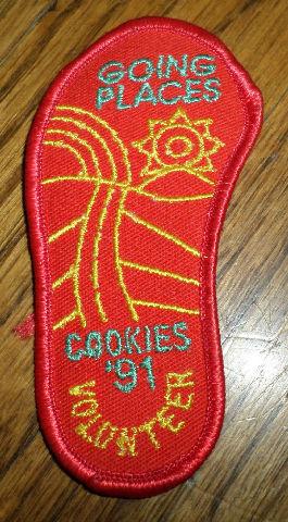 Girl Scouts Gs Vintage Uniform Patch Going Places Cookies 1991 Volunteer