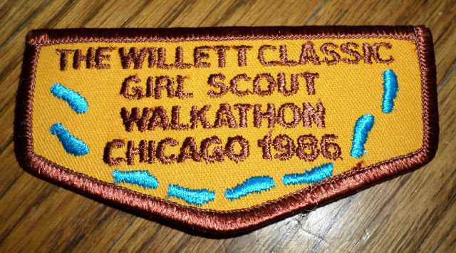 Girl Scouts Gs Vintage Uniform Patch Walkathon 1986 Willett Classic Chicago