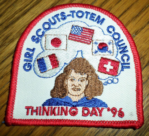 Girl Scouts Gs Vintage Uniform Patch Totem Council Thinking Day 1996