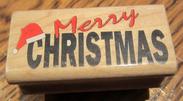 Merry Christmas Writing Images.Merry Christmas Writing Words Santa Hat Holiday Wooden Rubber Stamp