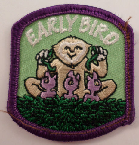 Girl Scouts Gs Vintage Uniform Patch Early Bird Monkey #Gspp