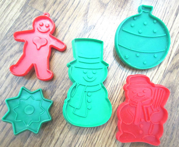 Hallmark Cards Cookie Cutters Lot Snowman Star Gingerbread Man Ornament