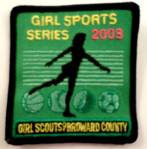 Girl Scouts Gs Vintage Uniform Patch  #Gsbk Broward County Sports Series 2003