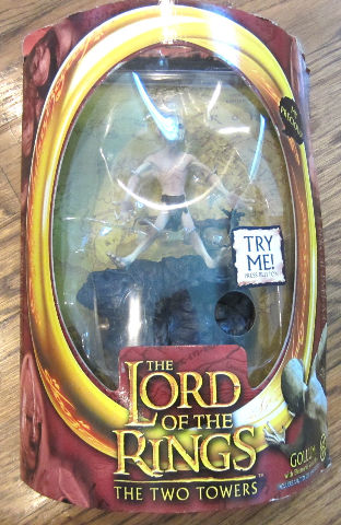 "The Lord Of The Rings The Two Towers ""Gollum"" Figure New In Original Package"
