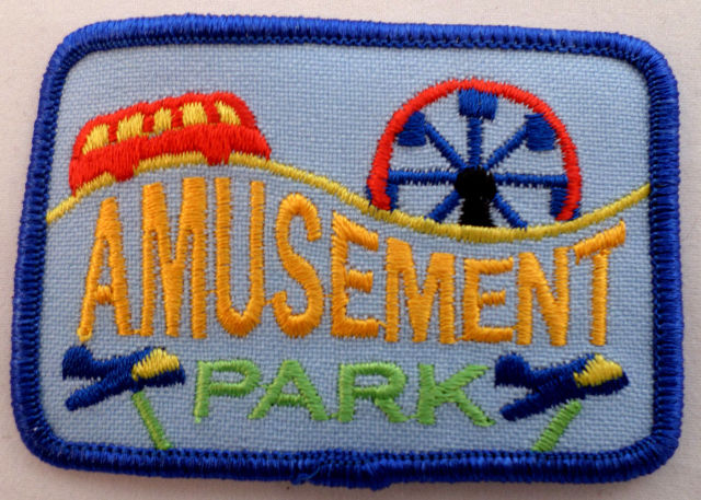 Girl Scout Gs Uniform Patch Amusement Park Rides #Gsbl
