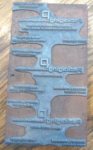 Unusual Printers Block Paper Stock Group Packaging Corp Of America Stamp