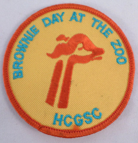 Vintage Girl Scout Brownie Day At The Zoo Hcgsc Giraffe  #Gs-Or