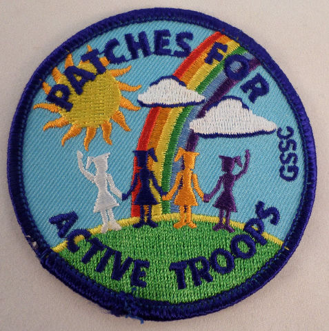 Vintage Girl Scout Patches For Active Troops Rainbow Gssc  #Gs-Bl