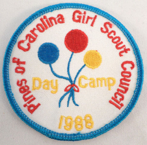 Vintage Girl Scout Pines Of Carolina Council Day Camp 1988 Balloons  #Gs-Bl