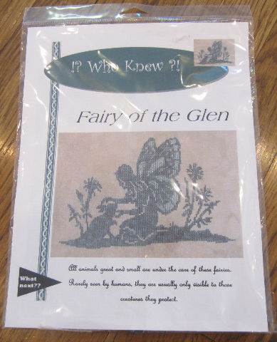 Fairy Of The Glen Monotone Silhouette Embroidery Set New Sealed