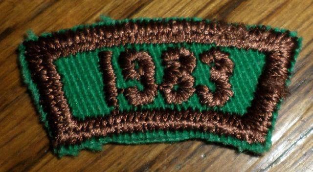 Girl Scouts Gs Vintage Uniform Patch 1983 Rocker Bar