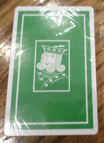 Green And White King Spade Made Printed In Belgium Playing Cards New Sealed Deck