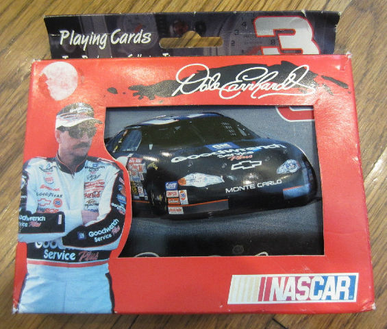 "Dale Earnhardt #3 Monte Carlo Playing Cards In Tin 2 Decks -  ""Mib"""
