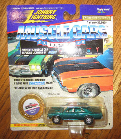 Johnny Lightning Muscle Cars 1966 Chevy Mailbu New Mib Ltd Edit.