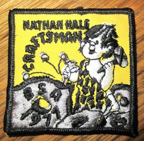 Vintage Boy Scout Patch Scout Bsa Nathan Hale Craftsman Bsa 1971