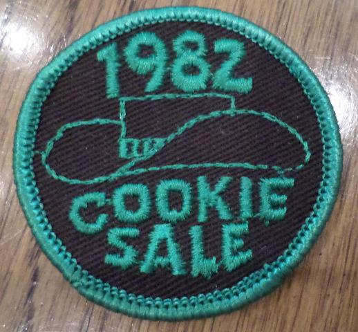 Vintage Girl Scout Uniform Patch Gs  Cookie Sale 1982 Cowgirl Hat
