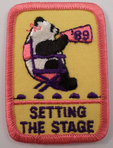 Girl Scouts Gs Vintage Uniform Patch Setting The Stage Panda Bear Director #Gspk