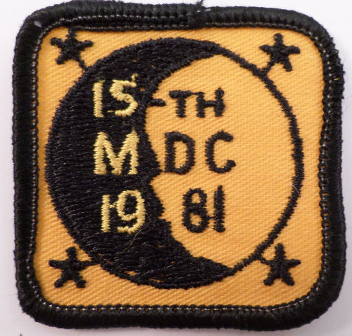 Girl Scouts Gs Vintage Uniform Patch 15Th Mcd 1981 Moon Midnight #Gsbk