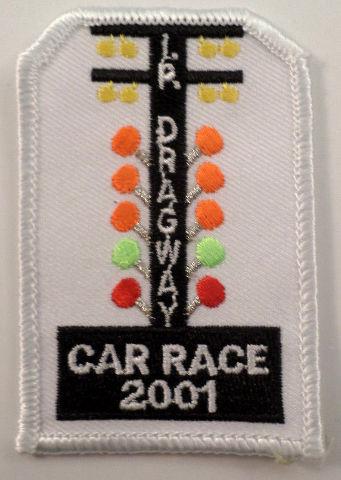 Girl Scouts Gs Vintage Uniform Patch Dragway Car Race 2001 Stop Light #Gswh