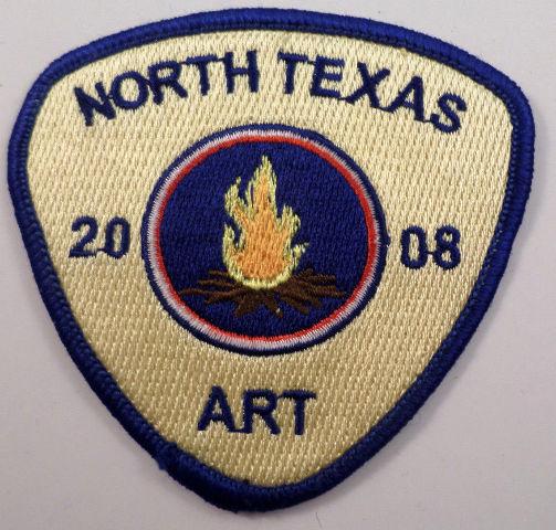 Girl Scouts Gs Vintage Uniform Patch North Texas Art 2008 Campfire #Gsbl