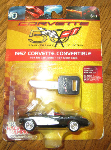 Racing Champions 1957 Corvette Convertible 50Th Anniversary Collection New Mip