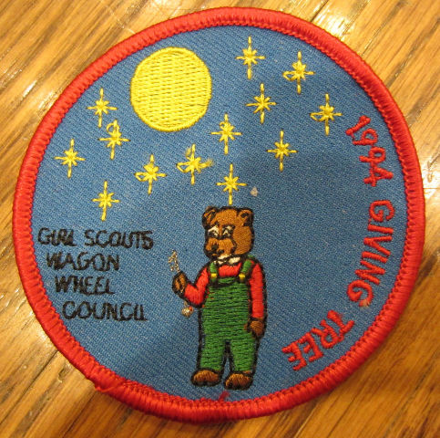 Girl Scouts Vintage Uniform Patch 1994 Giving Tree Wagon Wheel Council