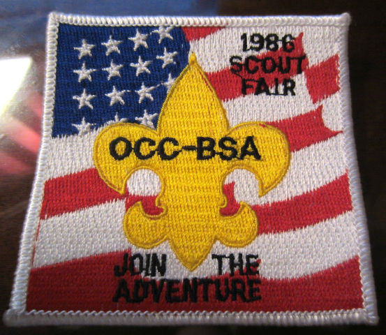 Bsa Boy Scout Uniform Pocket Flap Patch 1986 Scout Fair Occ-Bsa Adventure